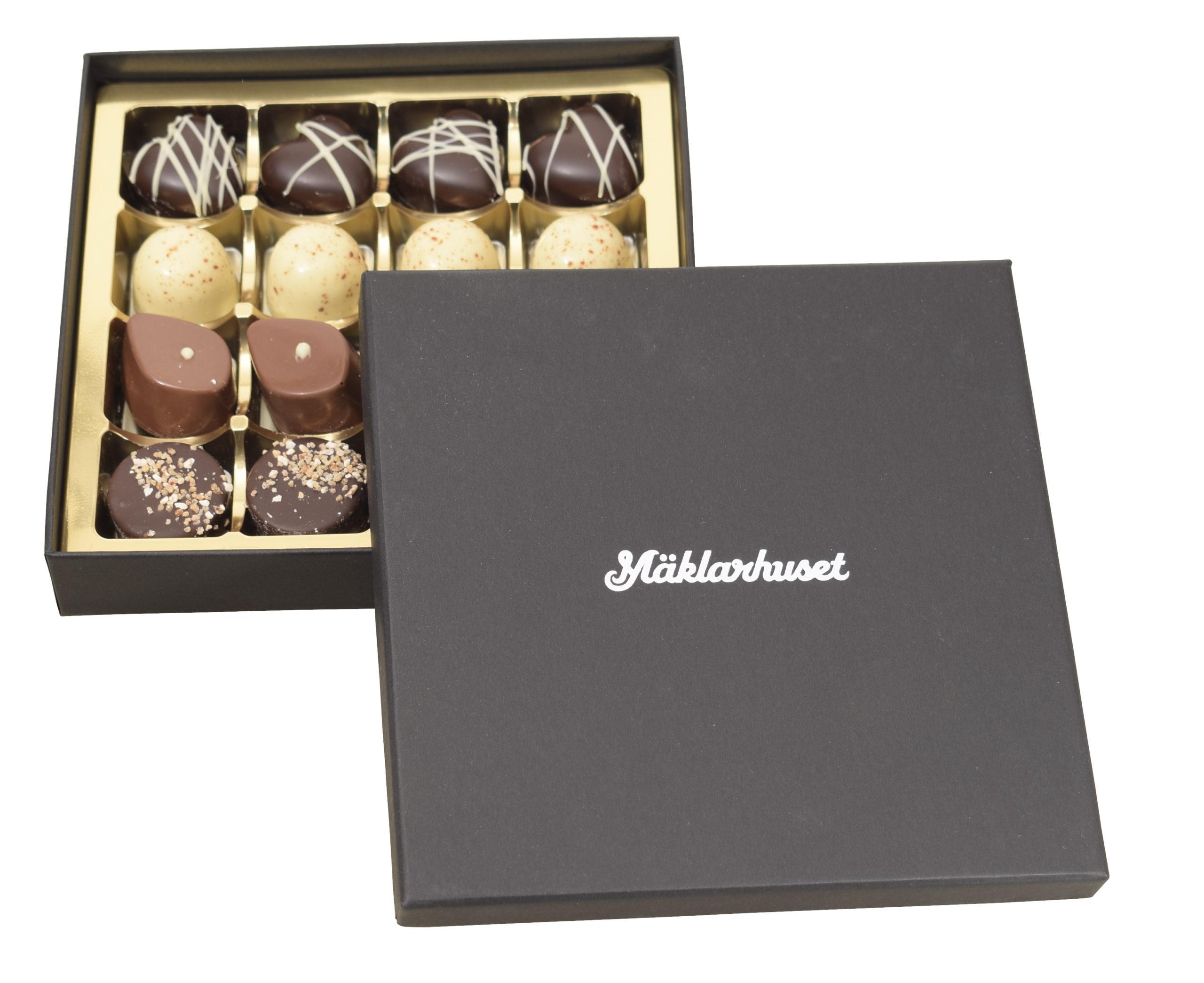 Belgisk chokladask med logo
